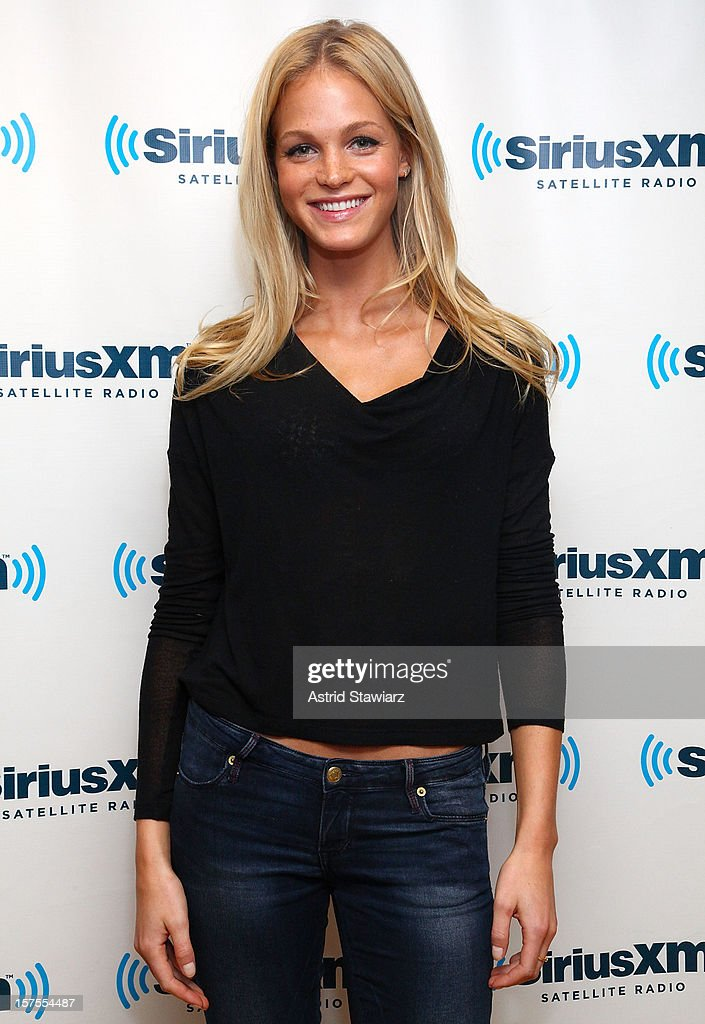 Model Erin Heatherton visits the SiriusXM Studios on December 4, 2012 in New York City.