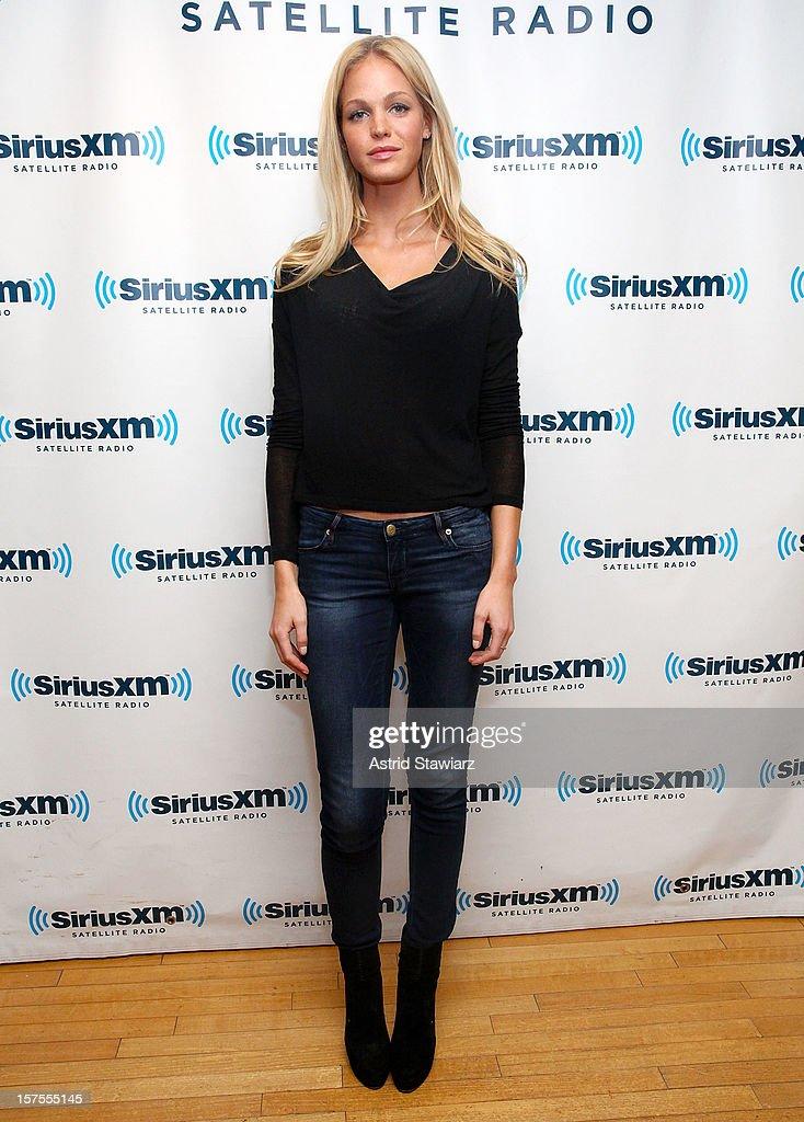 Model Erin Heatherton visits the SiriusXM Studios on December 4, 2012 in New York City.