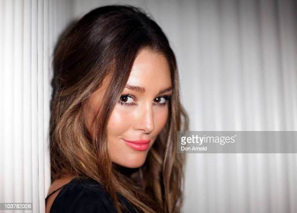 Model Erin McNaught poses during an event to promote the new Xbox 360 Kinect controllerfree interactive experience at The Ivy on September 2 2010 in...