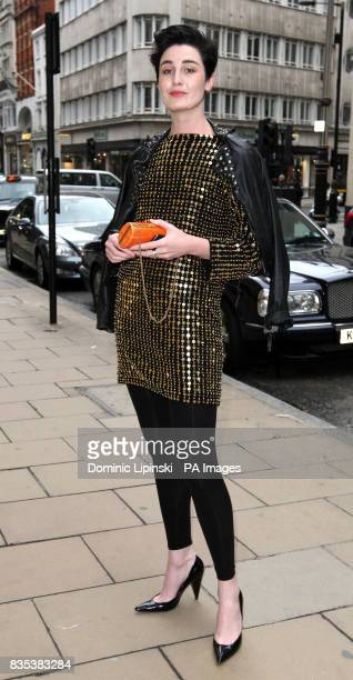 Model Erin O'Connor arrives at the launch party for the new Michael Kors flagship store on New Bond Street London