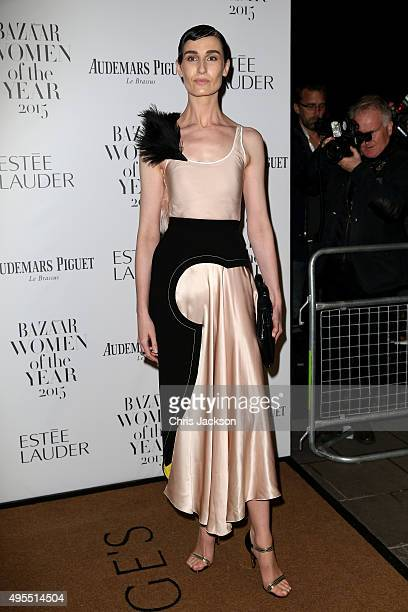 Model Erin O'Connor attends Harper's Bazaar Women of the Year Awards at Claridge's Hotel on November 3 2015 in London England