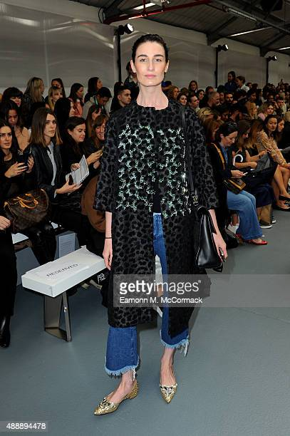 Model Erin O'Connor attends the Eudon Choi show during London Fashion Week Spring/Summer 2016 on September 18 2015 in London England