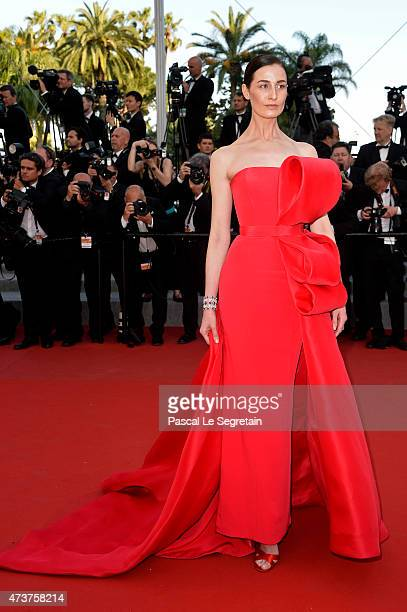Model Erin O'Connor attends the Premiere of 'Carol' during the 68th annual Cannes Film Festival on May 17 2015 in Cannes France