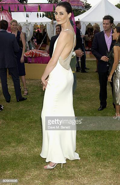 Model Erin O'Connor attends The Serpentine Gallery's annual summer party at the The Serpentine Gallery on June 16 2004 in London