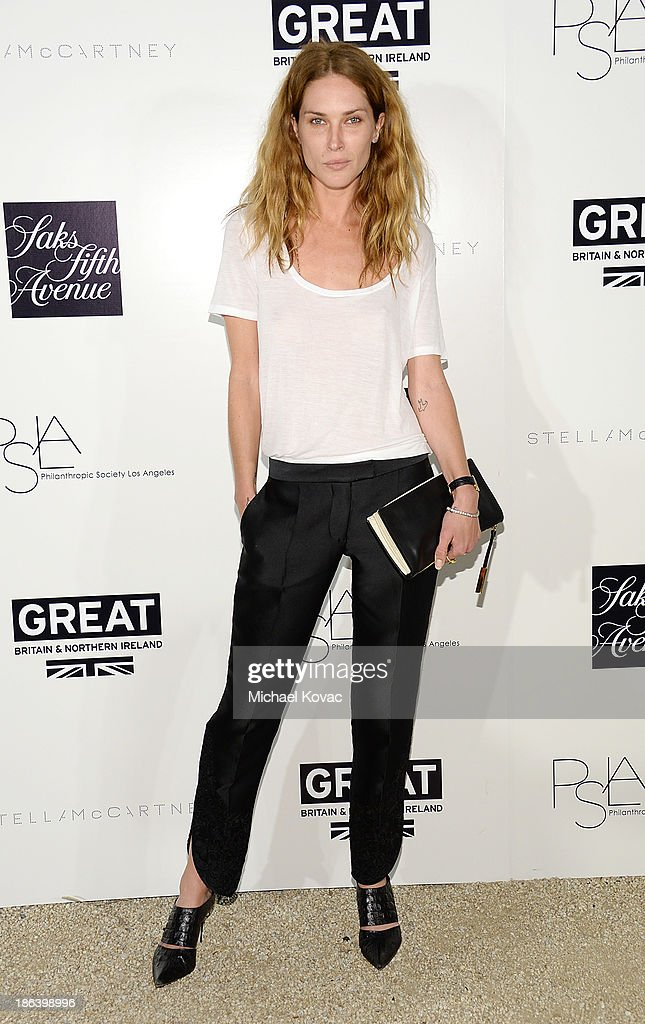 Model <a gi-track='captionPersonalityLinkClicked' href=/galleries/search?phrase=Erin+Wasson&family=editorial&specificpeople=592102 ng-click='$event.stopPropagation()'>Erin Wasson</a> arrives at the Fourth Annual Autumn Party With Stella McCartney on October 30, 2013 in Los Angeles, California.