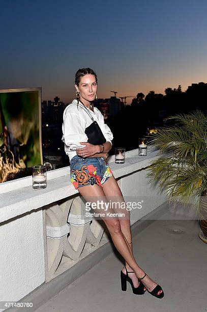 Model Erin Wasson attends Christopher Kane x mytheresacom dinner at Chateau Marmont on April 28 2014 in Los Angeles CA