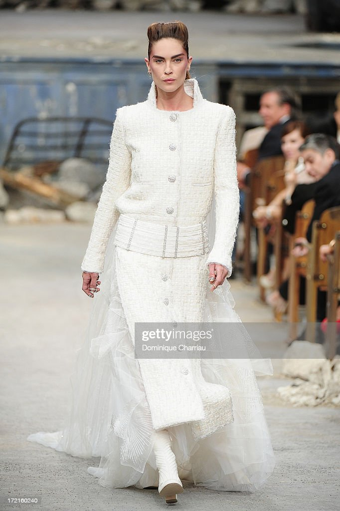 Model Erin Wasson walks the runway during Chanel show as part of Paris Fashion Week Haute-Couture Fall/Winter 2013-2014 at Grand Palais on July 2, 2013 in Paris, France.