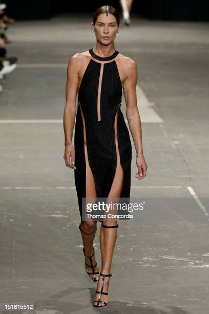 Model Erin Wasson walks the runway during the Alexander Wang show during Spring 2013 MercedesBenz Fashion Week at Pier 94 on September 8 2012 in New...