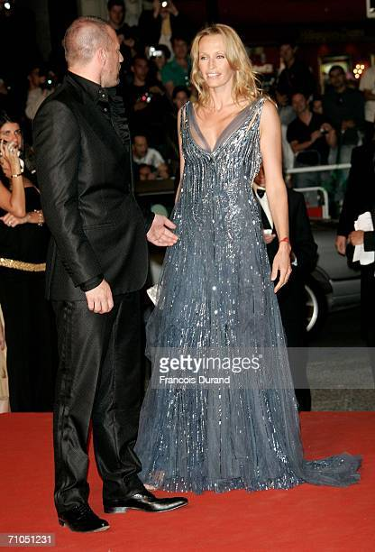 Model Estelle Lefebure and actor Samuel Le Bihan attend the 'A Scanner Darkly' premiere during the 59th International Cannes Film Festival May 25...