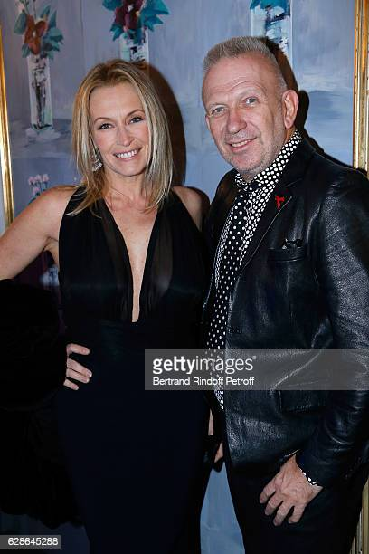 Model Estelle Lefebure and stylist JeanPaul Gaultier attend the Annual Charity Dinner hosted by the AEM Association Children of the World for Rwanda...