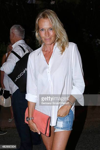 Model Estelle Lefebure attends the 'Madame Foresti' show of Humorist Florence Foresti during the 31th Ramatuelle Festival Day 1 on August 1 2015 in...