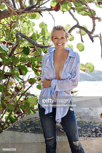 Model Estelle Lefebure is photographed for Paris Match on December 6 2014 in SaintBarthelemy Guadeloupe