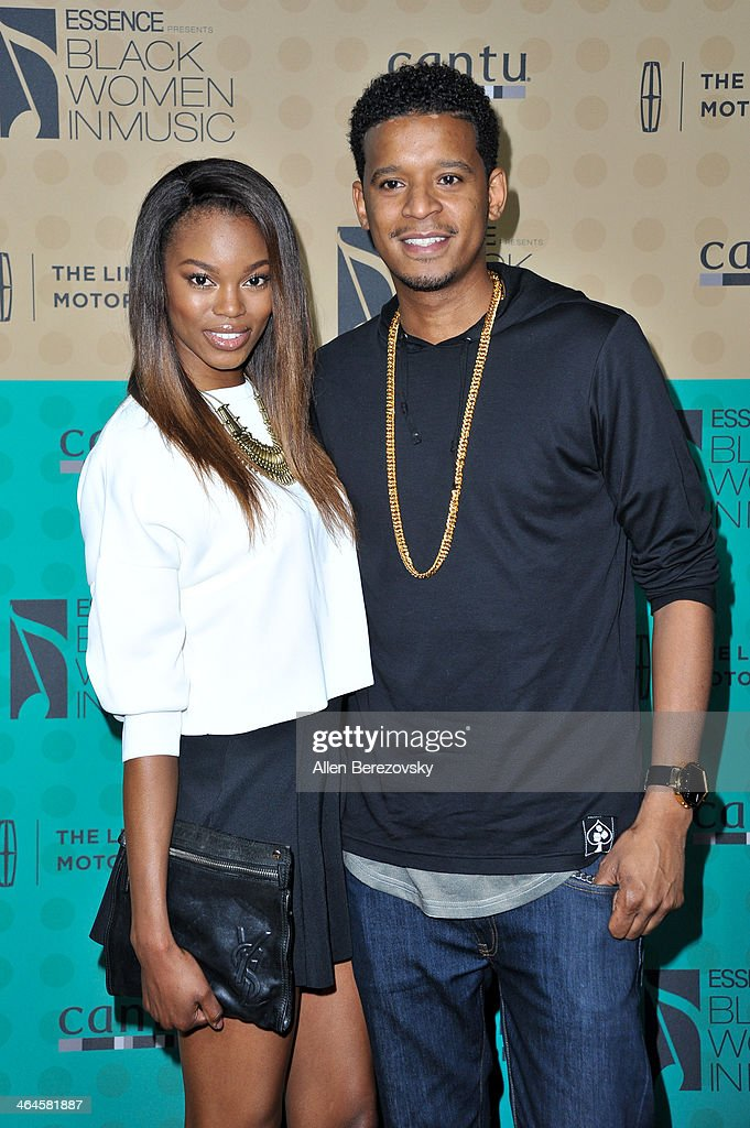 Model Eugena Washington (L) and chef Roble Ali attend Essence Magazine's 5th Annual Black Women In Music Event at 1 OAK on January 22, 2014 in West Hollywood, California.