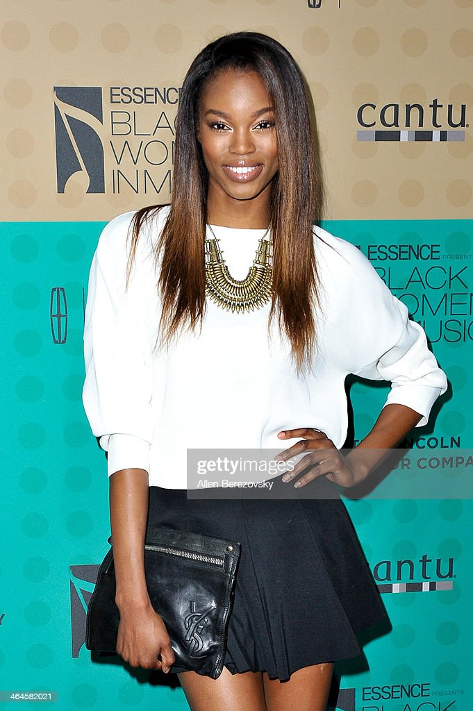 Model Eugena Washington attends Essence Magazine's 5th Annual Black Women In Music Event at 1 OAK on January 22, 2014 in West Hollywood, California.