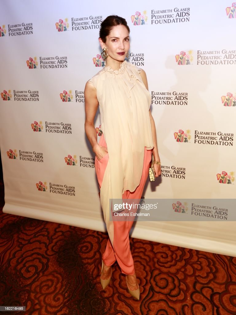 Model Eugenia Silva attends the 2013 Elizabeth Glaser Pediatric AIDS Foundation awards dinner at Mandarin Oriental Hotel on February 20, 2013 in New York City.