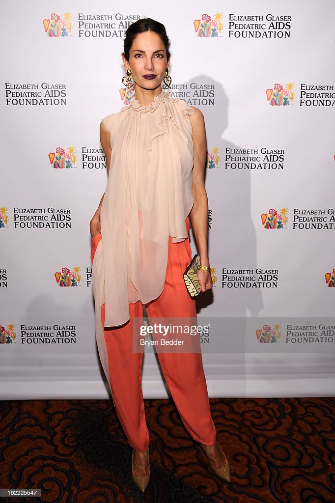 Model Eugenia Silva attends the Elizabeth Glaser Global Champions of a Mothers Fight Awards Dinner at Mandarin Oriental Hotel on February 20, 2013 in New York City.