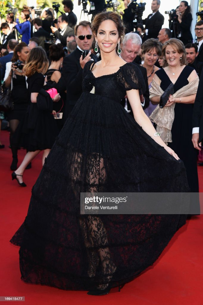 Model Eugenia Silva attends the Premiere of 'The Immigrant' at The 66th Annual Cannes Film Festival at Palais des Festivals on May 24 2013 in Cannes...
