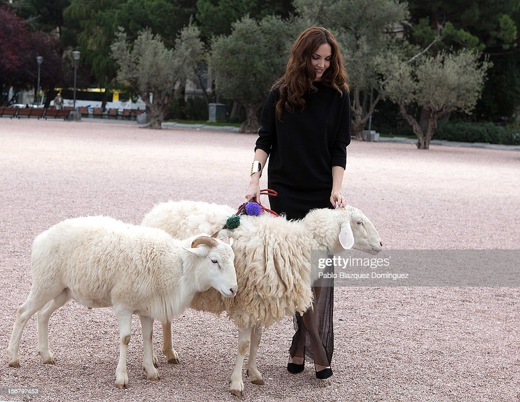 Model Eugenia Silva inaugurates Wool Week 2012 at Colon Square on November 21, 2012 in Madrid, Spain.