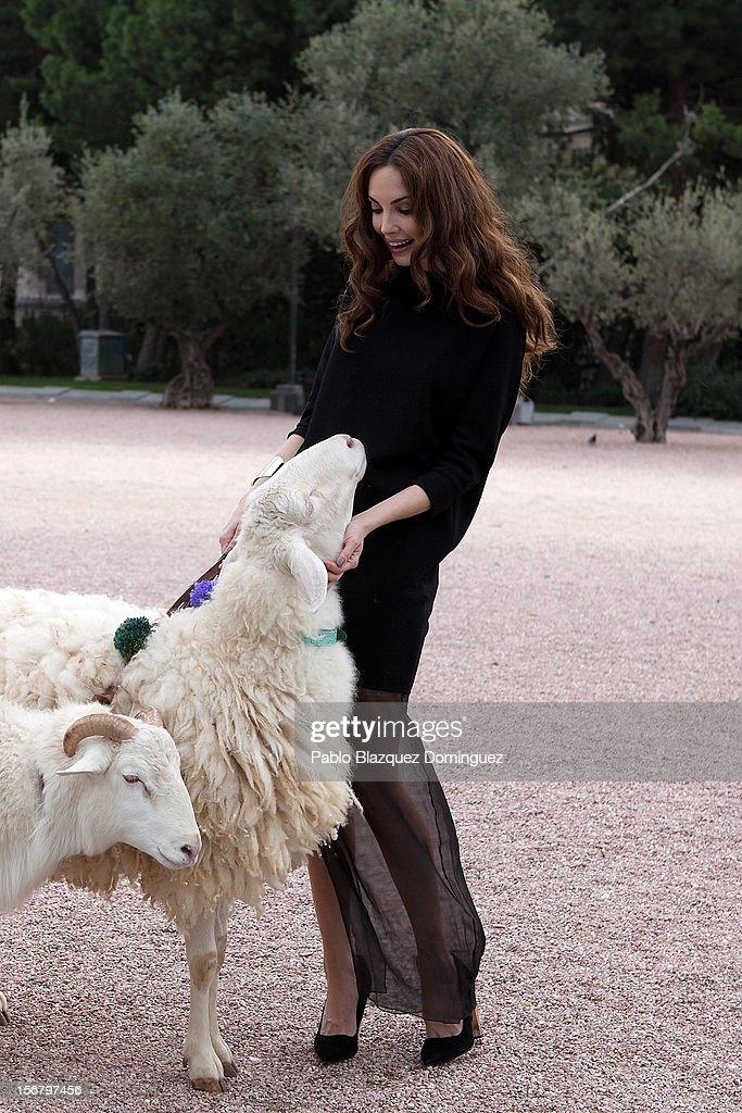 Model Eugenia Silva inaugurates Wool Week 2012 at Colon Square on November 21, 2012 in Madrid, Spain.