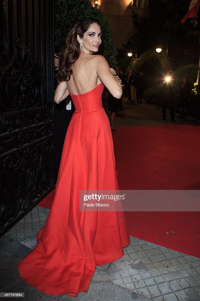 Model Eugenia Silva is seen arriving to 'Elle Style Awards 2014' at Italian embassy on October 23 2014 in Madrid Spain