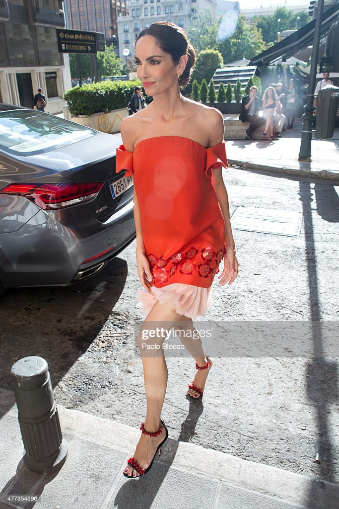 Model Eugenia Silva is seen arriving to the Lifestyle 10 Awards gala at Platea on June 16 2015 in Madrid Spain