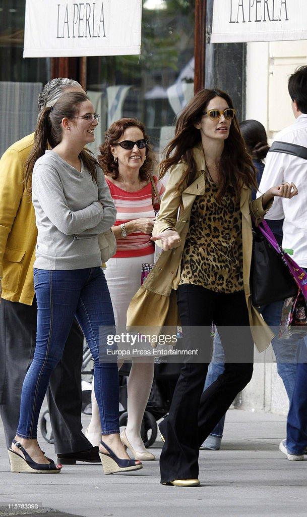Model Eugenia Silva is seen shooping on June 10 2011 in Madrid Spain