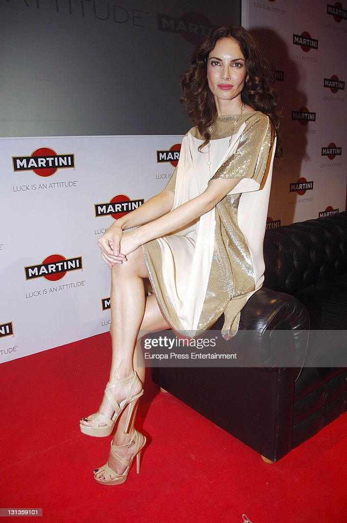Model Eugenia Silva presents the new Martini Boy of the global campaign 'Luck Is An Attitude' at Studio Pradillo 54 on November 3 2011 in Madrid Spain
