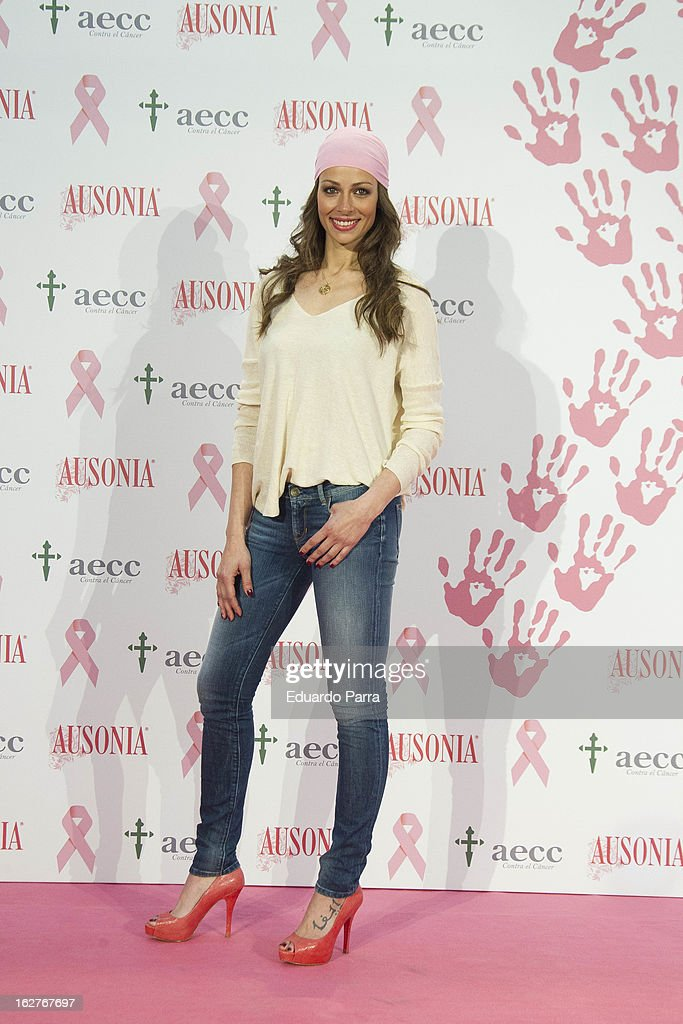 Model Eva Gonzalez attends 'Juntos Somos Mas Fuertes' campaign photocall against breast cancer on February 26, 2013 in Madrid, Spain.