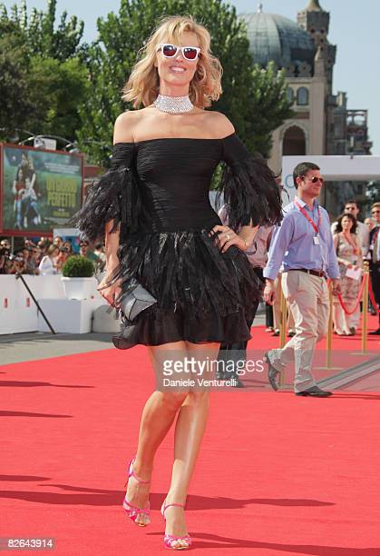 Model Eva Herzigova arrives for the ValentinoThe last Emperor premiere during the 65th Venice Film Festival at Sala Grande on August 28 2008 in...