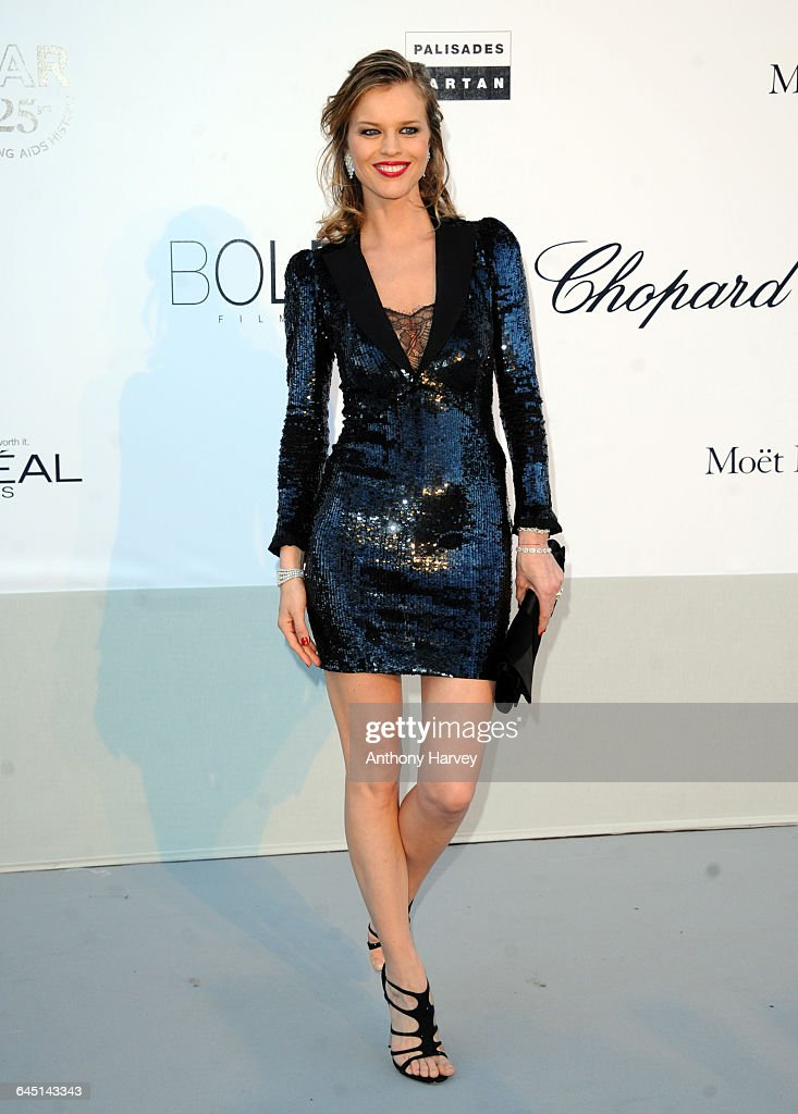 Model Eva Herzigova attends amfAR's Cinema Against AIDS Gala during the 64th Annual Cannes Film Festival at Hotel Du Cap on May 19 2011 in Antibes...