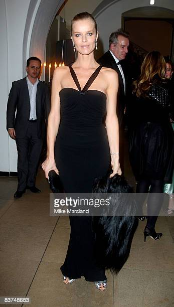 Model Eva Herzigova attends Chaos Point in aid of NSPCC at the Banqueting House November 18 2008 in London England