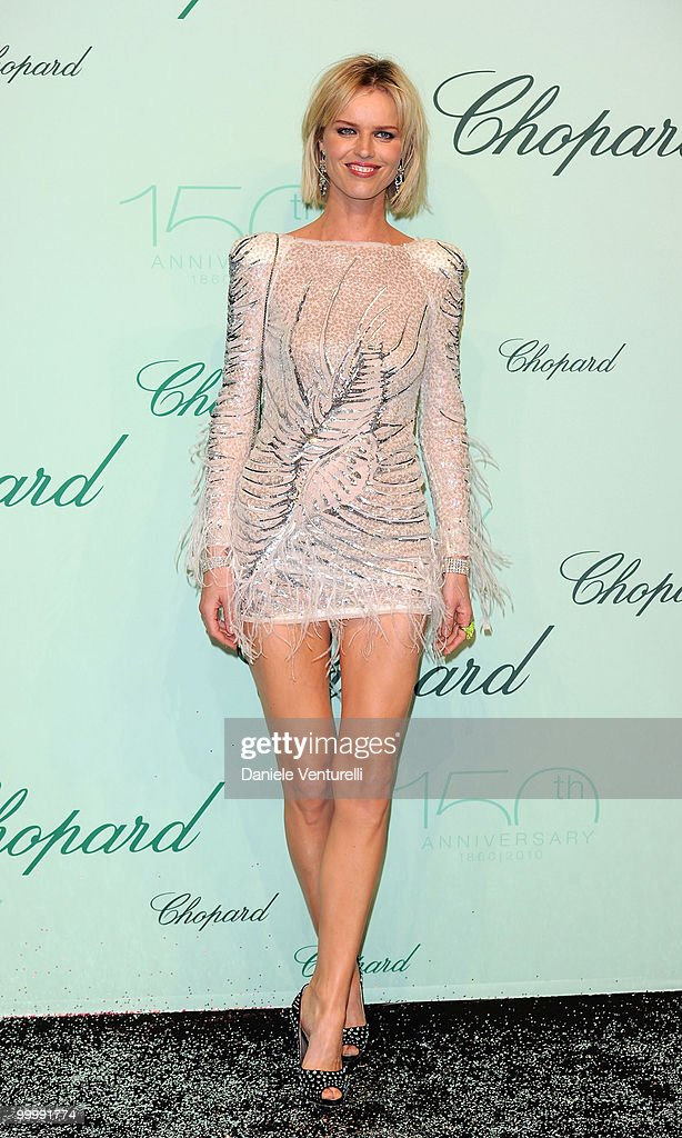 Model Eva Herzigova attends the Chopard 150th Anniversary Party at the VIP Room, Palm Beach during the 63rd Annual International Cannes Film Festival on May 17, 2010 in Cannes, France.