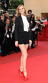 Model Eva Herzigova attends the 'La Conquete' Premiere during the 64th Annual Cannes Film Festival at the Palais des Festivals on May 18 2011 in...