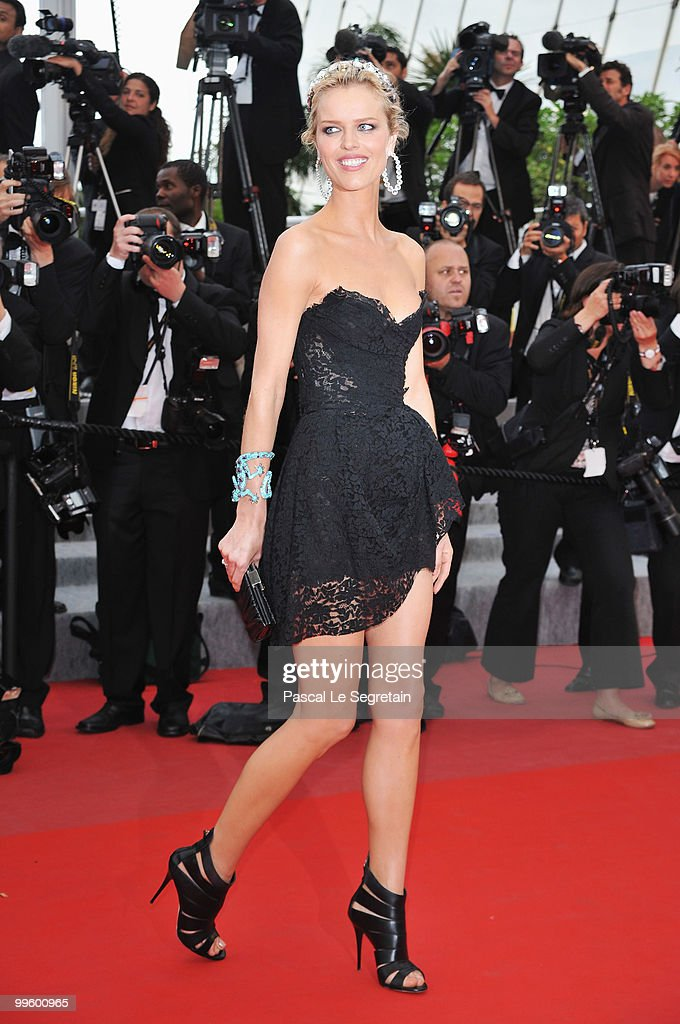 Model Eva Herzigova attends 'The Princess Of Montpensier' Premiere at the Palais des Festivals during the 63rd Annual Cannes Film Festival on May 16...