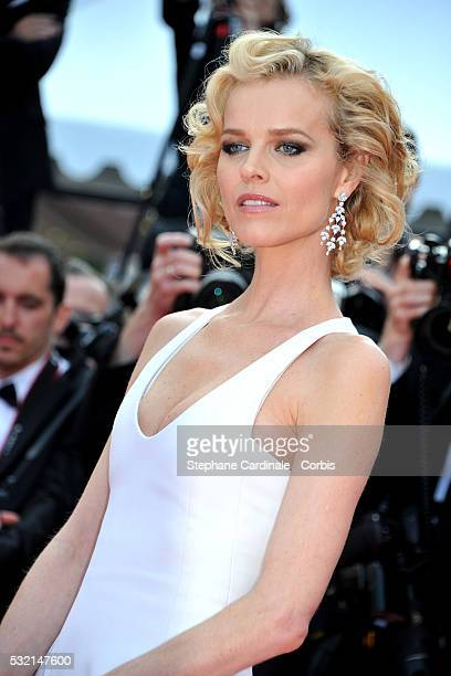 Model Eva Herzigova attends 'The Unknown Girl ' Premiere during the 69th annual Cannes Film Festival at the Palais des Festivals on May 18 2016 in...