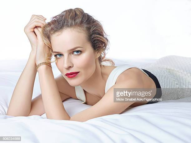Model Eva Herzigova is photographed for Madame Figaro on November 9 2015 in Tokyo Japan Dress My Dior bracelet Beauty by Dior CREDIT MUST READ Mote...