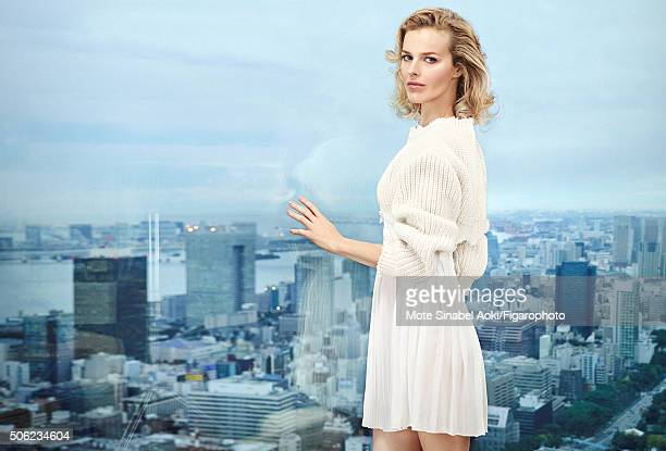 Model Eva Herzigova is photographed for Madame Figaro on November 9 2015 in Tokyo Japan All Beauty by Dior PUBLISHED IMAGE CREDIT MUST READ Mote...