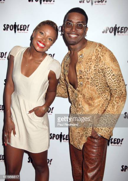 Model Eva Marcille and Norwood Young attend SPOILED Children's Fashion Show at Sur Restaurant on September 12 2012 in Los Angeles California