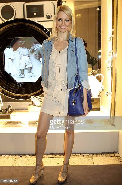 Model Eva Padberg attends the reopening of the Tod's store on March 24 2010 in Munich Germany