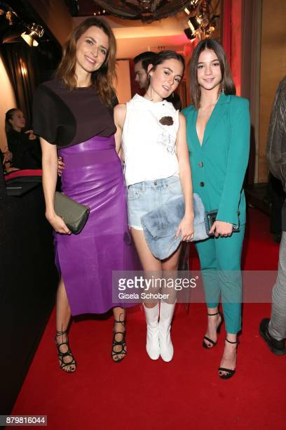 Model Eva Padberg Lea van Acken Style Icon of the year and LisaMarie Koroll during the New Faces Award Style 2017 at 'The Grand' hotel on November 15...