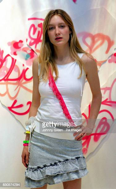 Model Eva Rice the daughter of composer Tim Rice at Miss Selfridge's flagship store in Oxford Circus London after being appointed as Ambassador to...