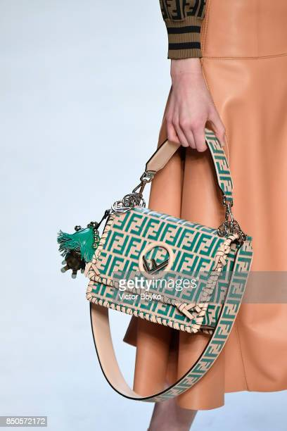 A model fashion detail walks the runway at the Fendi show during Milan Fashion Week Spring/Summer 2018 on September 21 2017 in Milan Italy