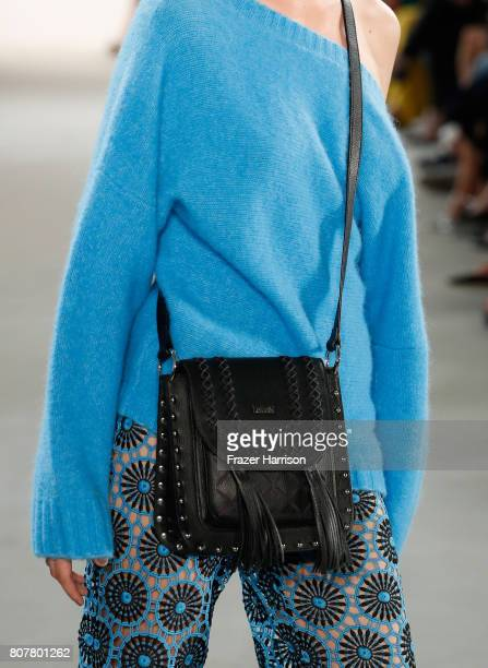A model fashion detail walks the runway at the Laurel show during the MercedesBenz Fashion Week Berlin Spring/Summer 2018 at Kaufhaus Jandorf on July...