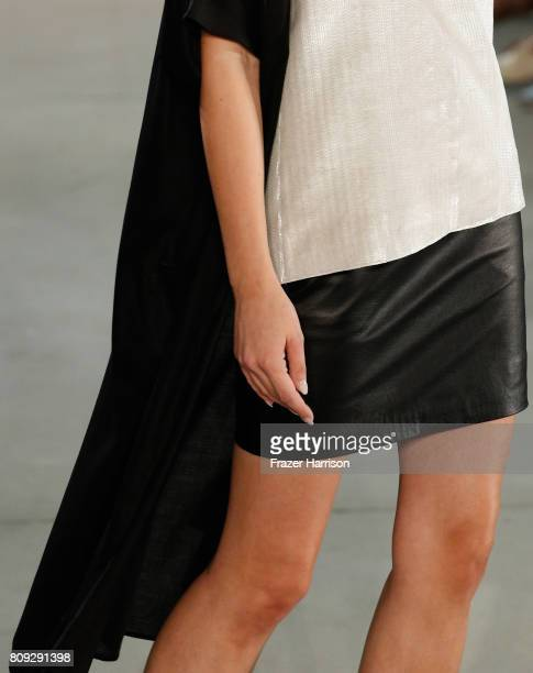 A model fashion detail walks the runway at the Maisonnoee show during the MercedesBenz Fashion Week Berlin Spring/Summer 2018 at Kaufhaus Jandorf on...