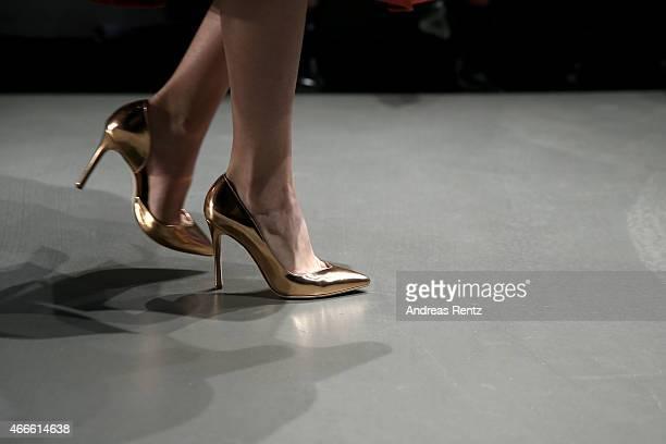 Model fashion detail walks the runway at the Osgur Masur show during Mercedes Benz Fashion Week Istanbul FW15 on March 17 2015 in Istanbul Turkey