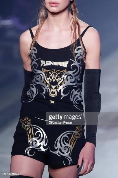 A model fashion detail walks the runway at the Plein Sport show during Milan Men's Fashion Week Spring/Summer 2018 on June 18 2017 in Milan Italy