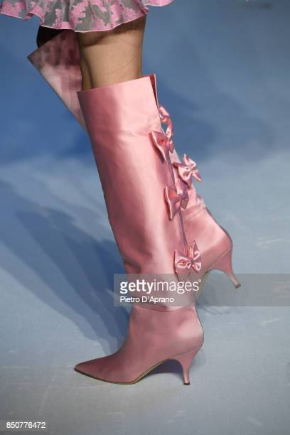 A model fashion detail walks the runway at the Vivetta show during Milan Fashion Week Spring/Summer 2018 on September 21 2017 in Milan Italy