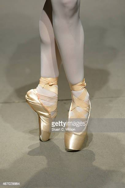 A model fashion detail walks the runway at the White Posture show during Mercedes Benz Fashion Week Istanbul FW15 on March 20 2015 in Istanbul Turkey