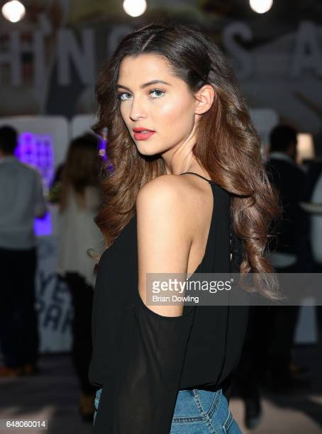 Model Fata Hasanovic arrives at the 5th Spirit of Istanbul festival at Arena Berlin on March 4 2017 in Berlin Germany