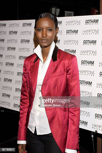 Model Fatima Said from America's Next Top Model attends Gotham and Hamptons magazines' celebration for US Open Champion Serena Williams at Pacha on...